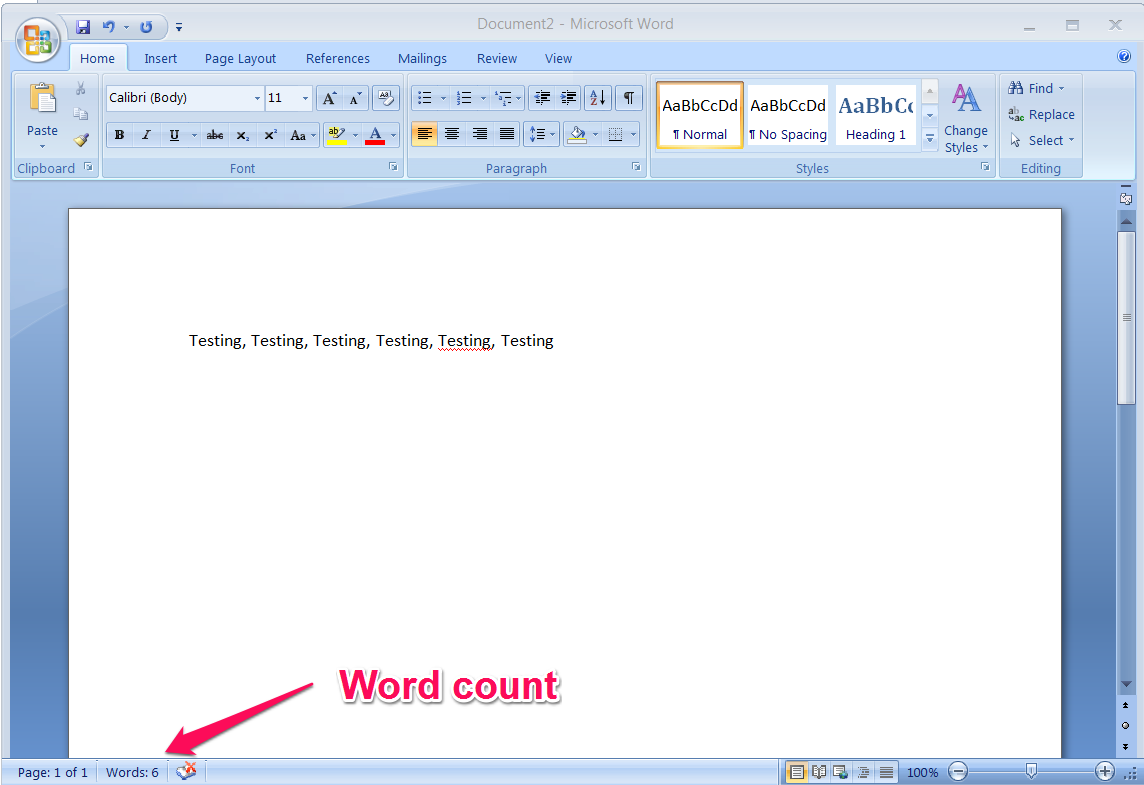 How to find the word count of an article in Microsoft Word